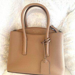 Kate Spade margaux medium satchel beige